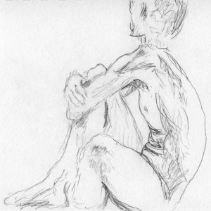 Life drawing: 10-minute pose